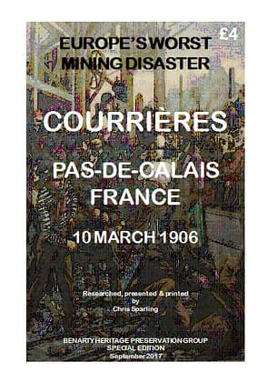 EUROPE' S WORST MINING DISASTER - COURRIÈRES, PAS-DE-CALAIS, FRANCE - 10 MARCH 1906 This most catastrophic coal mining explosion in a complex of pits in northern France, resulted in the deaths of officially 1099 miners. 42 A4 pages (double-sided)